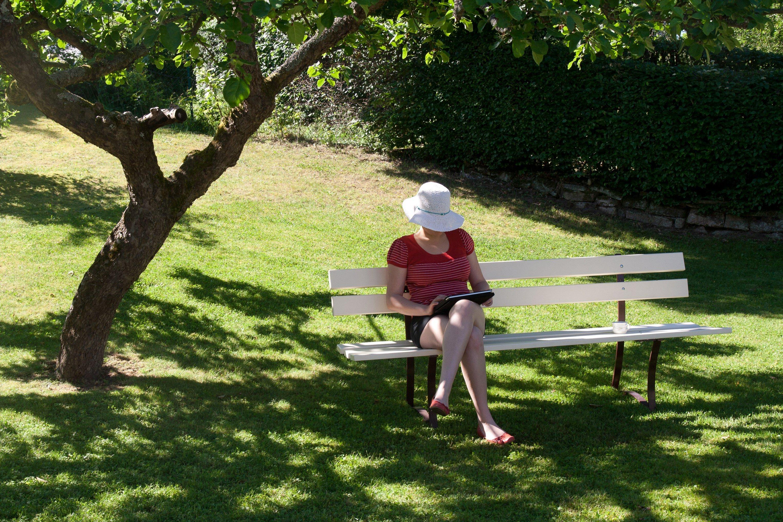 Ruhe und Erholung in der Gartenidylle.